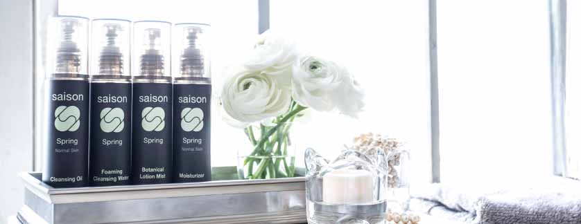 Saison Spring Organic Skincare Face Collection