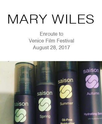 Saison Organic Skincare at the Venice Film Festival with Mary Wiles